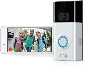 $119 » Ring Video Doorbell 2 1080P HD Wireless Security Camera with Night Vision and Installation Tools + 1 Year Warranty