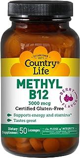 Country Life Methyl B12 3000 mcg 50 Lozenges