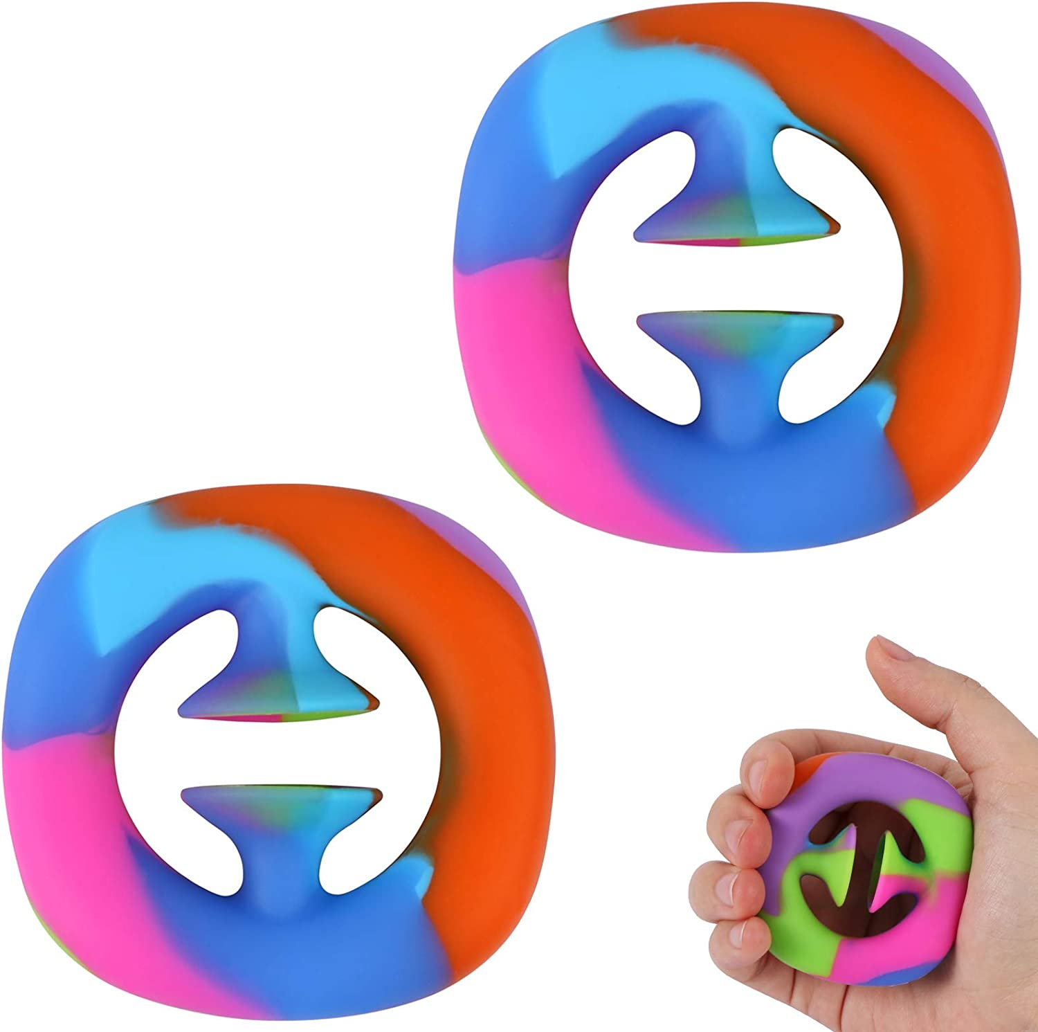 Blue Green Funny Suction Cup Stress Relief Toy Click Finger Sensory Toy Silicone Push Toy Noise Making Squeeze Toy Party Popper Noise Maker For Children And Adults 2 Pack Snap Fidget Toys