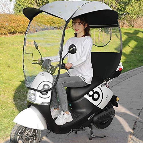 YLKCU Fundas para Motos Cubierta de Lluvia para Motocicleta, Motor Universal, Scooter, Cubierta de Lluvia para sombrilla para Bicicleta de Ciclismo, Paraguas Impermeable, B
