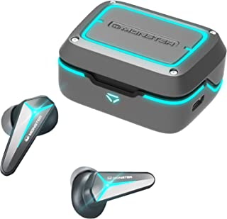 Monster Mission V1 Wireless Earbuds, Bluetooth 5.0 Built-in Mic Noise Cancelling Gaming Earbuds, Cool Light Effects with M...