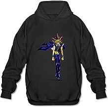 Men's Yu Gi Oh Logo Long Sleeve Hoodies Sweatshirt Black