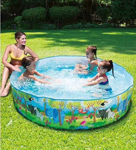 M.Y Splash 6ft x 18in Quick Set Paddling Pool Colourful Kids Baby Swimming Pool