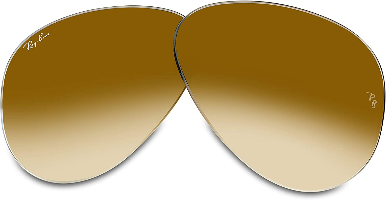 Ray-Ban Original AVIATOR LARGE METAL RB3025 Replacement Lenses For Men For Women+FREE Complimentary Eyewear Care Kit
