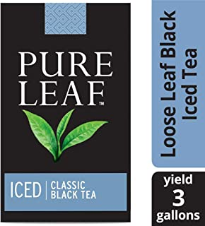 Pure Leaf Black Unsweetened Iced Loose Tea Pouch Made with Tea Leaves Sourced from Rainforest Alliance Certified Farms, 3 gallon, Pack of 32