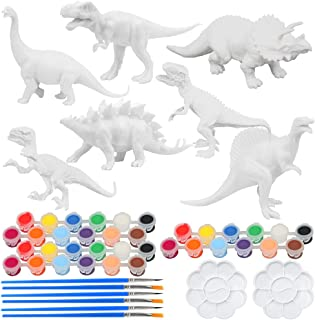 ZoneYan Kit de Peinture de Dinosaure/Animal, Animaux Enfant Jouet, Figurines Dinosaures Animaux, 3D DIY Artisanat de Dinos...