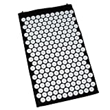 Large Acupressure Mat for Pain Relief and Muscle Relaxation by Kurtzy - Bed of Nails Massage Mat with 230 Spiked Flower Tops - Complete Full Back Spike Therapy to Relieve Stress