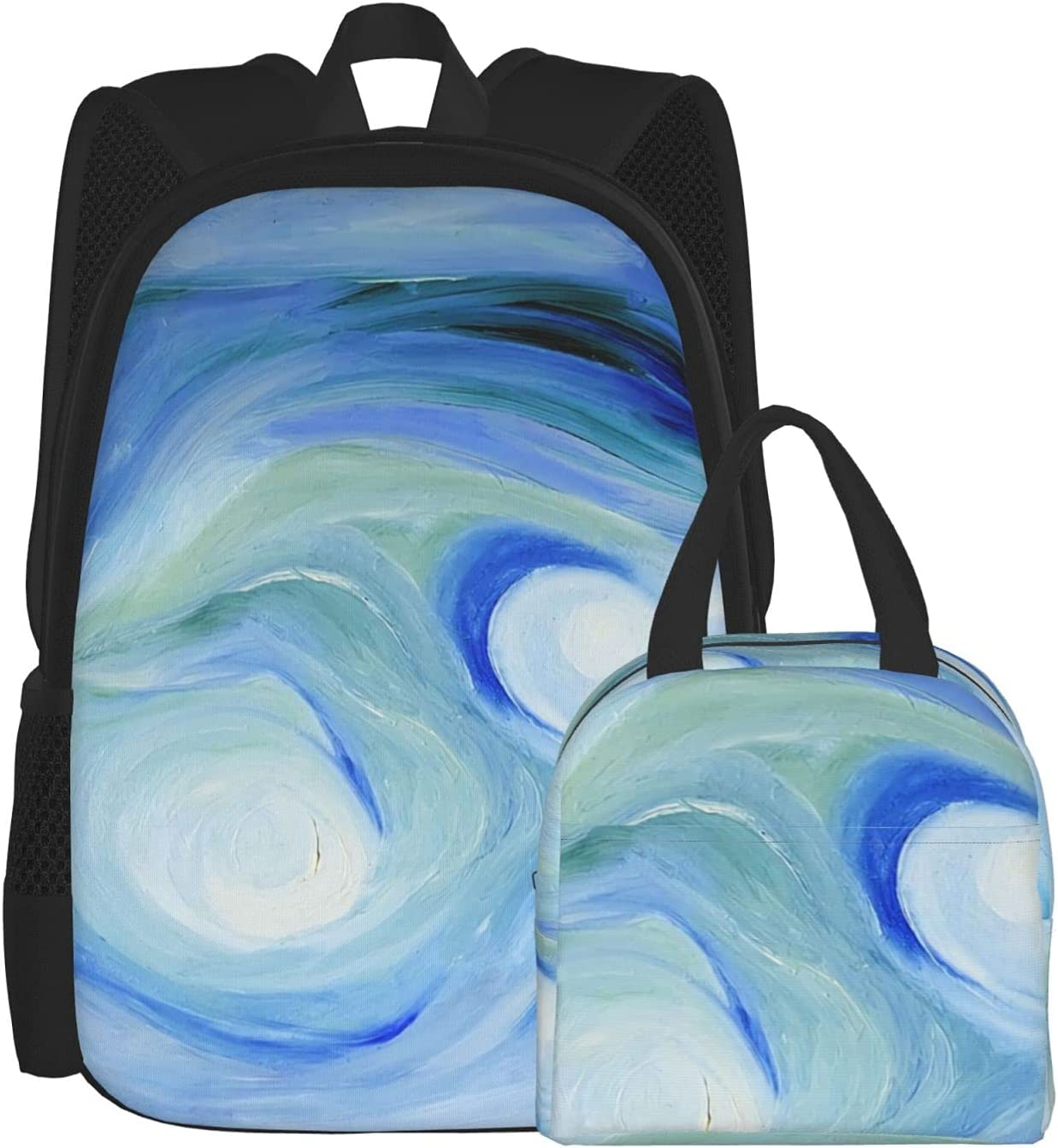 Backpack Lunch Bag Sets for Girls Watercolor Blue Boys Paintin Quality Recommendation inspection