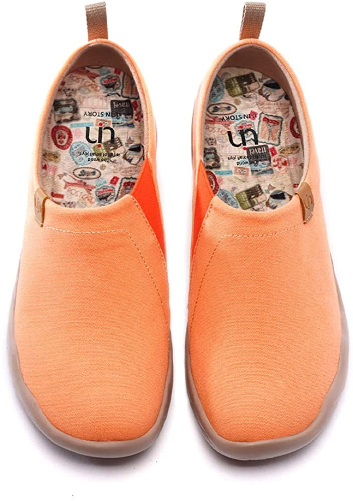 UIN Women's Slip Ons Canvas Lightweight Flats Sneakers Walking Casual Loafers Solid Color Travel Shoes