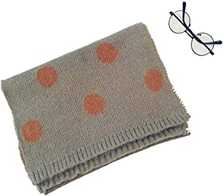 Boys and girls knitted scarf children's wool scarf small children's baby knitting color matching wave point 128 * 25CM