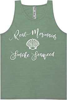 Real Mermaids Smoke Seaweed Adult Pigment Dyed Ringspun Tank Tops in 12 Colors