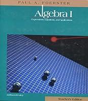 Algebra I, Teacher's Edition 0201860953 Book Cover