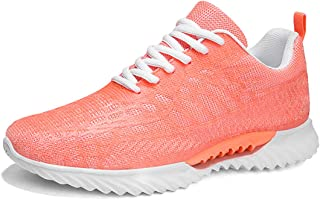 Running Shoes for Mens Womens Sports Jogging Shoes Comfortable Breathable Sneakers Casual Lace Up Knitted Mesh Shoes for W...