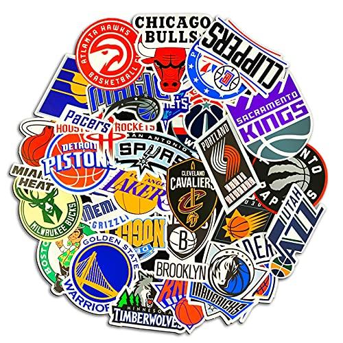 YMSD Los Angeles Lakers Nba Star Basketball Sticker Portátil Personalizado Coche Monopatín Agua Copa Equipaje PVC Impermeable Etiqueta 50pcs