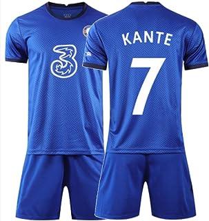 XH Jersey de fútbol de Hombre Jersey -Escapacitante Desgaste N'Golo Kanté # 7, Todos los tamaños Niños y Adultos (Color : ...