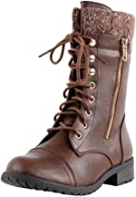 brown combat boot