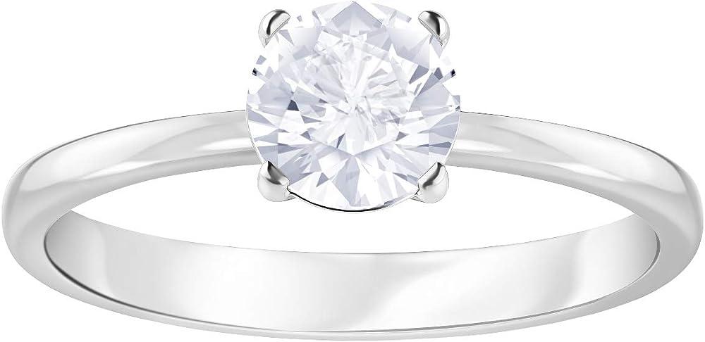 Swarovski anello attract placcatura rodio 5368542