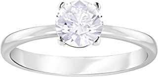 Swarovski Women's White Rhodium plated Attract Ring Size N 5368542