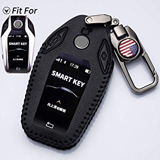 Goshion Compatible with BMW Smart Display Key Fob Cover Case Fit for BMW 5 Series BMW New 7 Series G11 G12