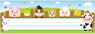 Farm Animal Name Plate Primary Students Back to School Desk Nameplates 36 Pack Classroom Decoration