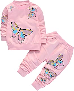 BABICOLOR Toddler Baby Girl Clothes Spring Outfits Set Fall Infant Outfits Tops+Pants 2pcs