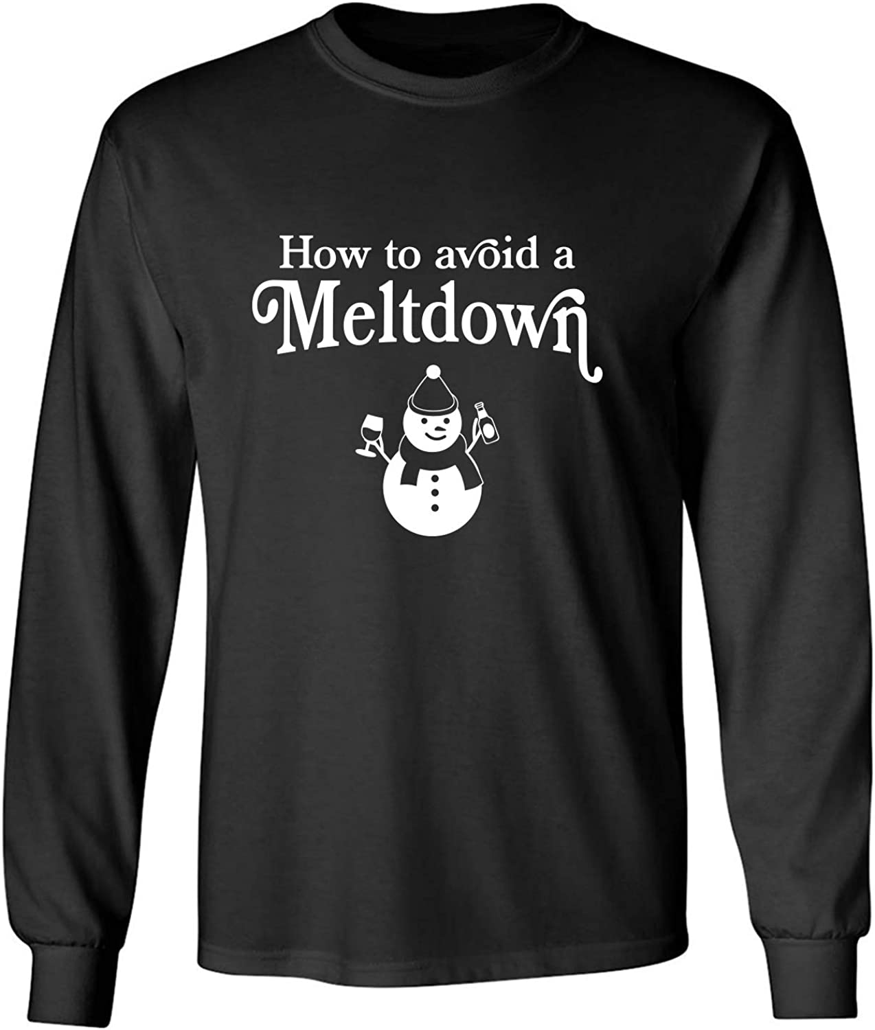 How to Avoid A Meltdown Adult Long Sleeve T-Shirt in Black - XXXX-Large