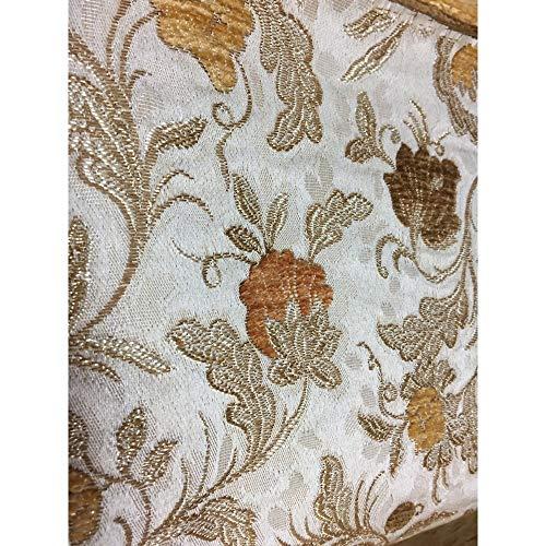 Brocados, terciopelo flores, satinado x tapicería de doble cara de 50 cm de alto 280 cm - Giallo Oro