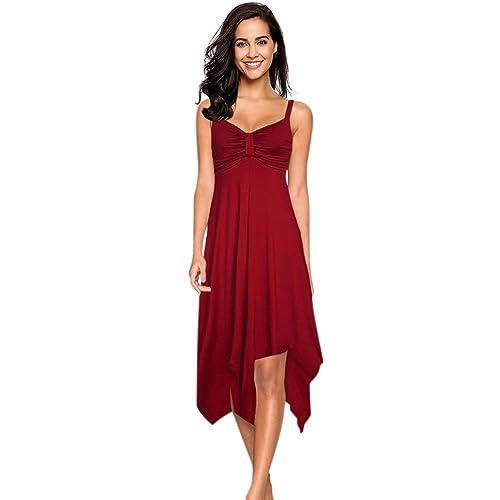 4b7808dabb8 Clearlove Women Irregular Hem Casual Beach Strap Slip Dress