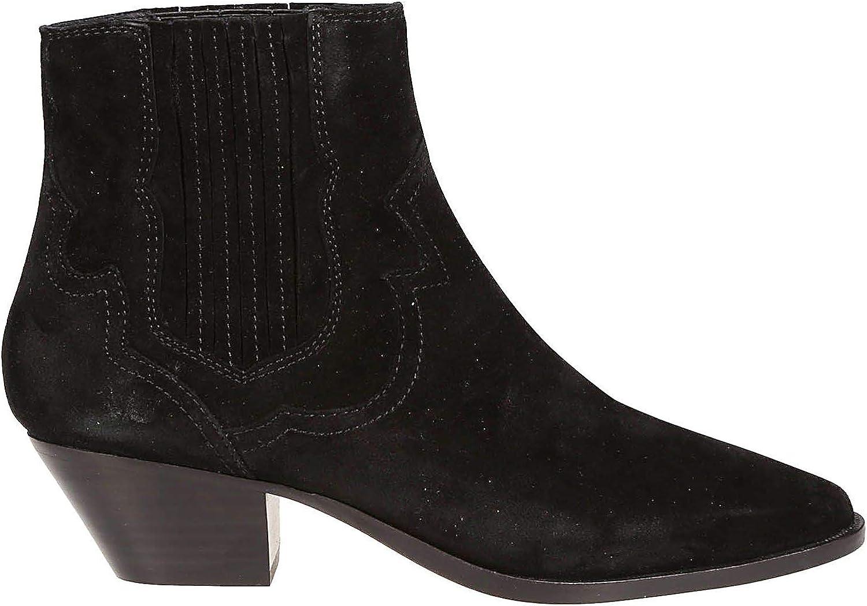 Ash Women's FALCON03 Black Suede Ankle Boots