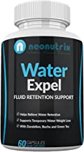 Water Retention Pills for Women and Men Bloating Relief Water Draining Supplement All-Natural Herbal Supplement Non-GMO, GMP Certified 60 Capsules Made in USA by Neonutrix