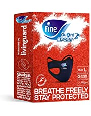 Fine Guard Sport Anti-Viral Face Mask - Olympian Endorsed, Running, Gym, Fitness, Yoga, Cycling - Large [2 x Reusable masks per pack]