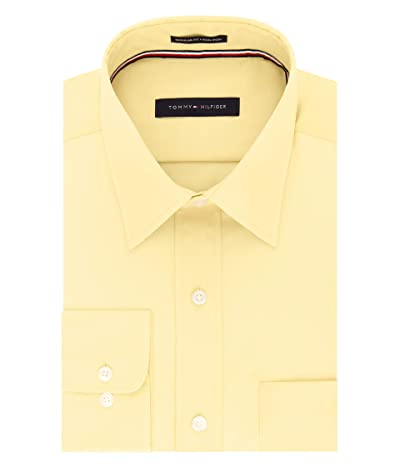 Tommy Hilfiger Regular Fit Non Iron Solid Point Collar