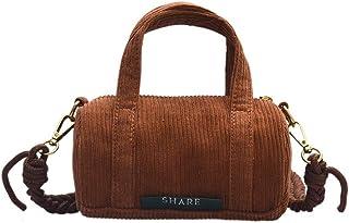Ulisty Damen Klein Cord Tasche Mini Schultertasche Mode Umhängetasche Handtasche braun
