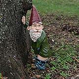 Azruma Höschenzwerg, niedlicher pinkelnder Zwerg, einzigartiger frecher Gartenzwerg für Rasen-Ornamente, Innen- oder Außendekoration (Grün)