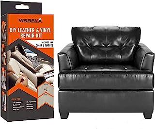 Visbella DIY para Kit de reparación de Cuero pequeño y reparación de Vinilo: Parche de Cuero y Vinilo con Facilidad para Asientos de automóviles, Zapatos, sofás, reparación y más.