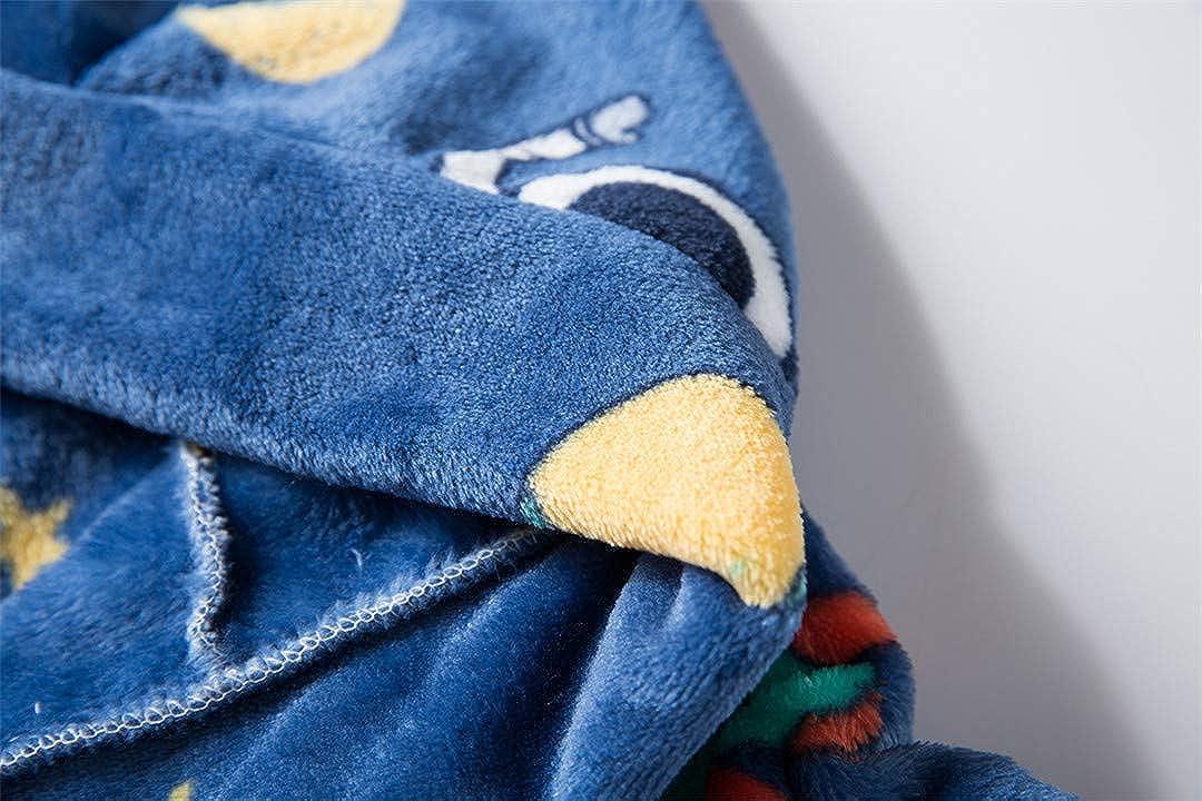 CADong Peignoir de chambre en polaire pour enfants Pour gar/çons et filles