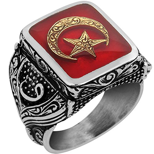 Steel Pen Craft Free Express Shipping Solid 925 Sterling Silver Men Ring Falcon Jewelry Real Natural Garnet Gemstone