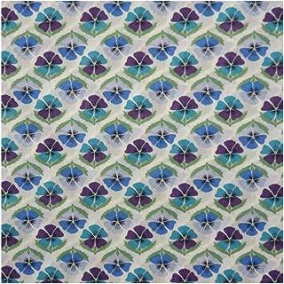Blue & Lilac Pansies 'Miranda Skye' Liberty Lawn Cotton Handkerchief