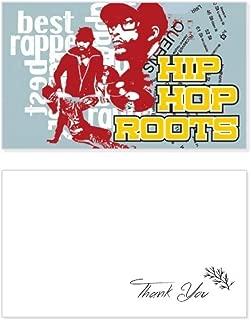 Culture Boy Hip Hop Pattern Graffiti Street Thank You Card Birthday Wedding Business Message Set
