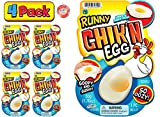 JA-RU Egg Slime Realistic Chicken Egg (Pack of 4) Funky Slimy Eggs Splat Squishy Stress Toy Great Prank Gag Party Favors Easter Toys Supply for Kids and Adults. Plus 1 Bouncy Ball. # 5350-4p