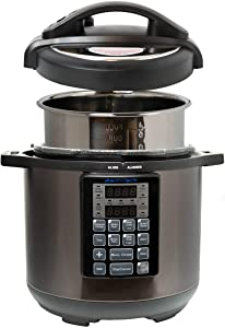 Sirena Rapid Pot Pressure Cooker - Large 6 Quart 15-In-1 Electric Instant Pot Pressure Cooker With 50-Recipe Cook Book - Durable Stainless Steel 6 Qt Stove Top Canning Cooker For Home & Pro Chefs