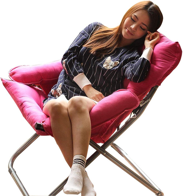 Faule Couch Klappbares Lazy Sofa Lounge Chair für Büro Büro Büro Wohnzimmer Büro, Rückenlehne Verstellbarer Sofasitz mit abnehmbarem und waschbarem Bezug (Farbe   Rosa rot) B07L8GL2G3 | Ausgezeichnet (in) Qualität  1aa295
