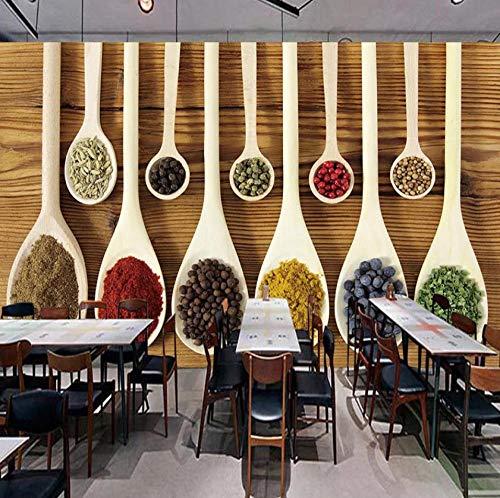 muurschildering op maat 3D niet-geweven stof milieuvriendelijk en duurzaam behang muursticker - alle soorten kruidenkeuken 400(w)x280(H)cm