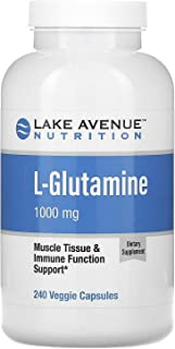 Lake Avenue Nutrition L-Glutamine, 1,000 mg, 240 Veggie Capsules