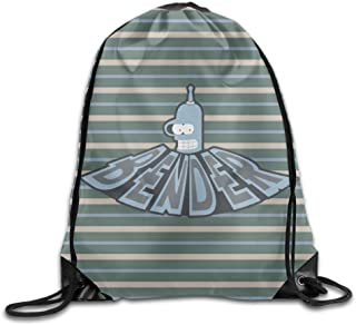 MDSHOP Futurama Bender Logo Drawstring Backpack Sack Bag