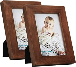 RPJC 3.5x5 Picture Frames (Set of 2) Made of Solid Wood High Definition
