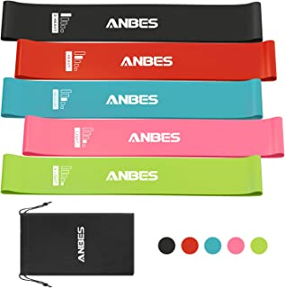 ANBES Resistance Loop Bands, Resistance Exercise Bands for Home Fitness, Yoga, Stretching, Strength Training, Physical Therapy, Natural Latex Pilates Flexbands, Workout Bands