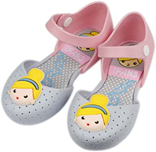 iFANS Girls Cute Princess Jelly Shoes Mary Jane Flats for Toddler Little Kids