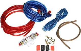 Decdeal 1500W Car Audio Subwoofer Amplifier Installation Kit AMP RCA Wiring Kit Cable Fuse Holder Wire Cable
