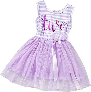 Baby Girls Crown Princess Striped 1st/2nd Birthday Cake Smash Tulle Tutu Dress Toddler Kids Outfit
